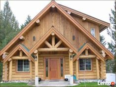 log home design design design ideas Cabins In The Woods, House In The Woods, Building A Small House, Log Cabin Homes, Log Cabins, Rustic Cabins, Bamboo House, Log Home Decorating, Getaway Cabins