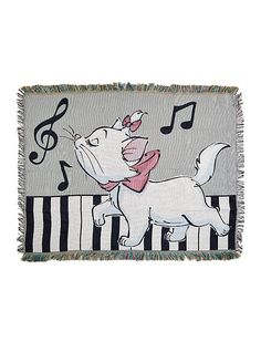Disney The Aristocats Marie Woven Tapestry Throw,