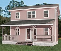 16x16x18 Barn 2 Story Cabin starting at 1457000 Built on site