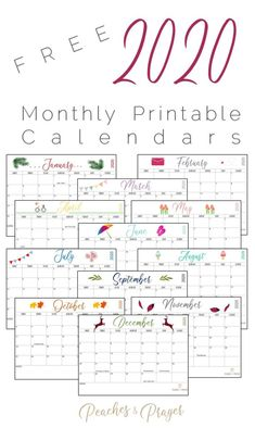 Free December 2020 Calendar Printable that is blank for scheduling your activities! Free 2020 Monthly Printable Calendars with holidays. Free Monthly Calendar, Printable Calendar 2020, Kids Calendar, Creative Calendar, Calendar Ideas, Free Christmas Printables, Free Printables, Christmas Gift Tags, Happenings