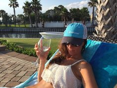 Wine always tastes better with a Salt Strong hat.