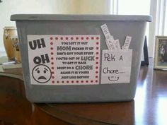 Lost and found/ chore idea? Yes!