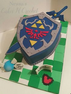 This listing is for: 1 Zelda Hylian Shield cake topper ALL 100% EDIBLE…
