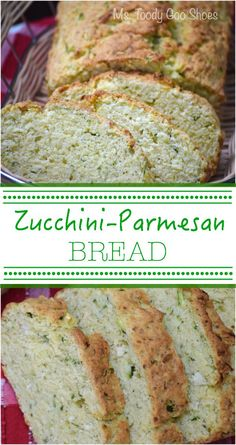 Savory Zucchini-Parmesan Bread: A great companion to soup or salad, and the best part? It's really easy to make. | Ms. Toody Goo Shoes