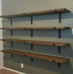 Shelf Brackets Heavy Duty Floating Shelves Farmhouse Decor 2 inch wide Iron Shelf Bracket Industrial Decor Handmade Made in USA Set Regal Industrial, Vintage Industrial Decor, Industrial House, Industrial Farmhouse, Industrial Furniture, Industrial Style, Industrial Bathroom, Industrial Windows, Industrial Apartment