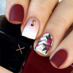 33 Super Pretty Flower Nail Designs To Copy Floral nail designs are among the most popular because we consider flowers to be synonymous to the [. Cute Acrylic Nails, Cute Nails, Pretty Nails, Flower Nail Designs, Nail Art Designs, Nails With Flower Design, Fall Toe Nail Designs, Nail Designs Tumblr, Hair And Nails
