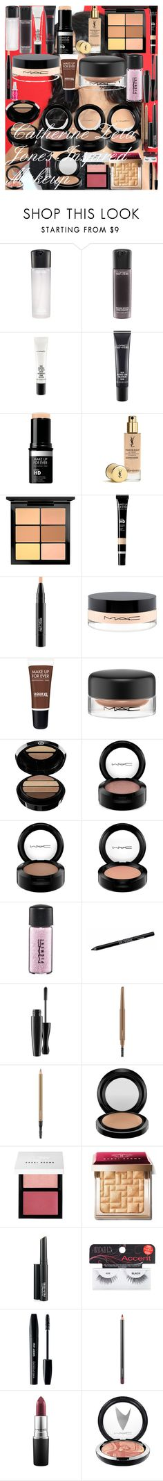 """""""Catherine Zeta Jones Inspired Makeup"""" by oroartye-1 on Polyvore featuring beauty, MAC Cosmetics, MAKE UP FOR EVER, Yves Saint Laurent, Giorgio Armani, Urban Decay, Bobbi Brown Cosmetics, Ardell and Barry M"""