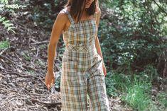 c5509e1acbf Delia Jumpsuit in Sage Plaid – Jean Franklin Plaid Jeans
