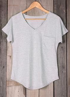 You've got a closet full of clothes and nothing to wear? You gotta keep this shirt.This one is a beautiful basic for your wardrobe. Casual and comfy,you'll need this.