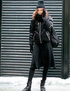 Models Off Duty: New York Fashion Week Street Style A/W 2014 | ELLE UK