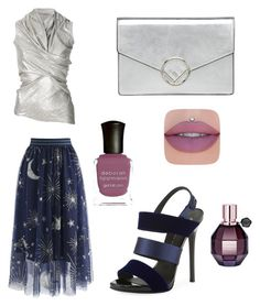 """Без названия #137"" by djelsomina-manchini on Polyvore featuring мода, Chicwish, Rick Owens Lilies, Fendi, Giuseppe Zanotti, Jeffree Star и Deborah Lippmann"