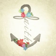 """I want this but instead of faith I want it to say family. I love it because it incorporates an infinity sign as the """"f"""", and has family in it for my pap, and also the anchor itself to me means stability and strength. So no matter how bad things are, I will make it through! <3"""