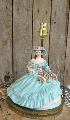 Vintage Southern Belle Boudoir Lamp by FunkyJunktique on Etsy