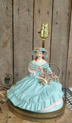 Vintage Southern Belle Boudoir Lamp by FunkyJunktique on Etsy