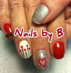 Valentine nails by Brandy!  I ❤️ these nails!  @Brandy Nelson