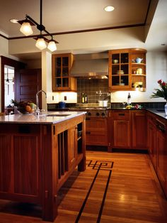 Kitchen Tile Flooring With Inlay Burgundy Tile Design, Pictures, Remodel, Decor and Ideas