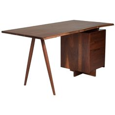 Shop authentic George Nakashima furniture and other George Nakashima furniture from the world's best dealers. Bohemian Furniture, Cool Furniture, Furniture Design, Furniture Storage, Coffee Table Desk, George Nakashima, Antique Desk, Co Working, Modern Desk