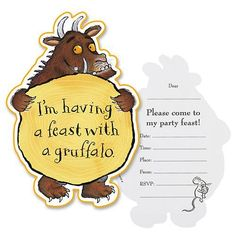 Party Ark's 'Gruffalo Invitation Cards'