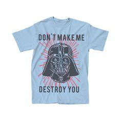 Star Wars Darth Vader Don't Make Me Destroy You Youth T-Shirt (Large)