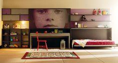 Life box 21. Habitación juvenil con cama abatible superior