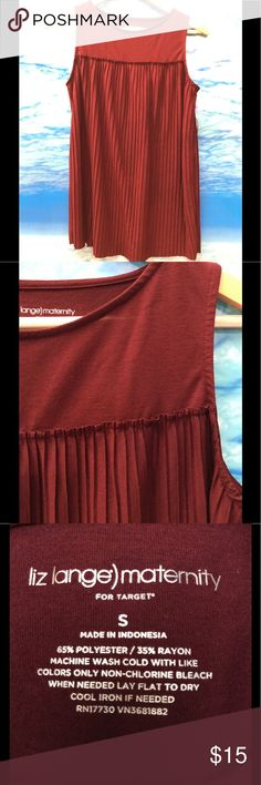Maroon Maternity Tank Top Great tank top to dress up or down! Great match with the Gap maternity jeans I have on another listing! Liz Lange for Target Tops Tank Tops