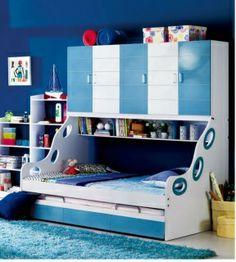 kids bunk bed with hideaway storage