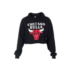 f0bef7667d7ae NBA 4 HER Cropped hoodie Long sleeves CHICAGO BULLS logo on front  Adjustable drawstring on hood Soft inner fleece for comfort