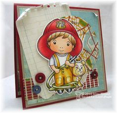 firefighter scrapbook paper | Details about FIREMAN LUKA-La-La Land Crafts Mounted Rubber Stamp