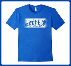 Mens The Evolution Of Man Lacrosse T-Shirt For Lacrosse Player Medium Royal Blue - Sports shirts (*Amazon Partner-Link)