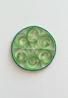 Handmade Quilling Paper Lime from The Papery Craftery. Click to order now, $25.00