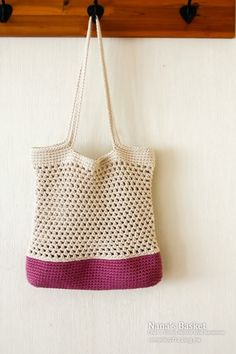 6월에도 손뜨개 수업은 계속 됩니다. ㅎㅎㅎ 여름에 어울리는 가방 뜨기 수업 과 원데이 클래스로 보틀커버... Free Crochet Bag, Crochet Market Bag, Crochet Tote, Crochet Handbags, Crochet Purses, Crochet Hooks, Crochet Baby, Knit Crochet, Bag Pattern Free