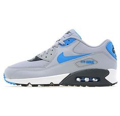 Nike Men's Sports Shoes Air Max 90 Wolf Grey Photo Blue White buy online