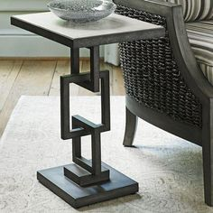 The unique look of the Lexington Home Brands Oyster Bay Deerwood Side Table is sure to be a standout piece. The mahogany top in a distressed, light-wash. Welded Furniture, Iron Furniture, Steel Furniture, Home Furniture, Furniture Design, Pallet Furniture, Furniture Ideas, Metallic Furniture, Modular Furniture