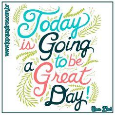 Hoje vai ser um grande dia! Bom dia povo, alguém mais já começou a Quinta desejando coisas boas?  www.topquadros.com.br  #quadro #quadros #decoracao #decorativo #decorar #decorado #decorada #decorando #parede #naparede #wall #topquadros #lojaonline #lojafisica #bomdia #quinta #great #day