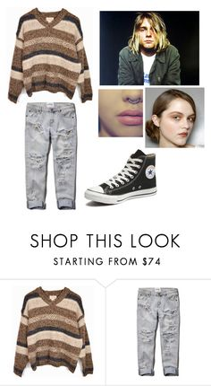 """Kurt Cobain inspired outfit"" by xxkaleyxx ❤ liked on Polyvore featuring Abercrombie & Fitch and Converse"