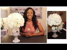 Glamorous Wedding Centerpiece | DIY Dollar Tree | Under $25!!!!  Bridal Floral Design | - YouTube