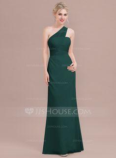 d48bb3102597 A-Line/Princess One-Shoulder Floor-Length Chiffon Bridesmaid Dress With  Ruffle (007116658)