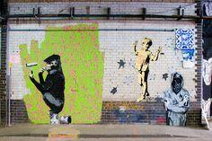Banksy & Vexta - London Cans Festival - Leake Street