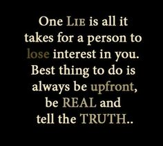 One lie is all it takes!
