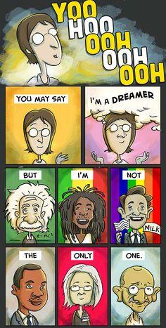 Pablo Stanley - Imagine by John Lennon Beatles Art, Beatles Songs, The Beatles, Imagine Lyrics, Imagine John Lennon Lyrics, Lyric Art, Lyric Quotes, Music Lyrics, Quotes Quotes