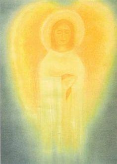 Large Golden Guardian Angel Poster