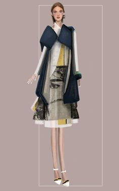 """destrutturato"" Sketch   Stefania Belmonte   my collection   Fashion Illustration"