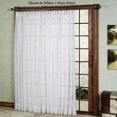 Splendor Semi Sheer Pinch Pleat Patio Panel Door Curtainskitchen