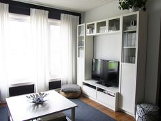 Ikea tv unit - Our living room /// The A & B Stories