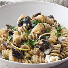 Fusilli with Roasted Eggplant and Goat Cheese Recipe - Key Ingredient