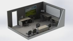 Boardroom Work Area Layout