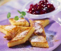 Rezept: Grießschnitten mit Kirschkompott