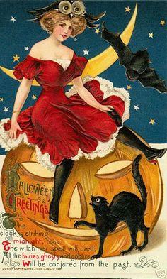 Halloween post card