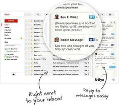 Unifyo, integra Twitter y Facebook en tu correo webmail o Outlook