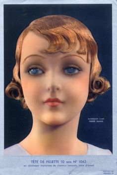 Pierre Imans 1930 Sculptor in Wax Head in Céralaque Hairstyle Children